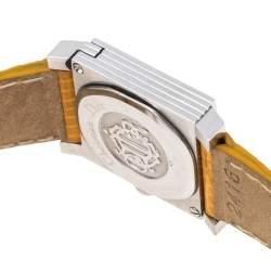 Christian Dior White Stainless Steel Leather La Parisenne D60109 Women's Wristwatch 19 mm