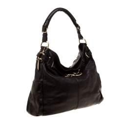 DKNY Dark Brown  Leather Hobo