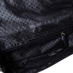 DKNY Black Leather Flap Chain Shoulder Bag