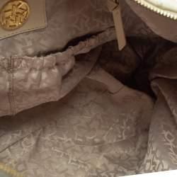 DKNY White Leather Hobo