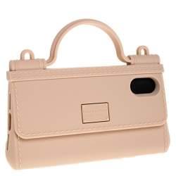 Dolce & Gabbana Peach Rubber Sicily iPhone X - XS Chain Case