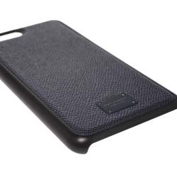 Dolce & Gabbana Navy Blue Leather iPhone 7/8 Plus Case