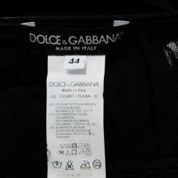 Dolce & Gabbana Black Stretch Tulle Ruched Corset Top M
