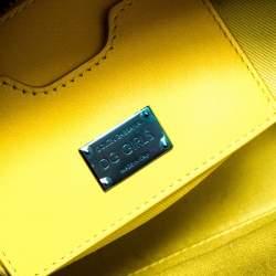Dolce & Gabbana Black/Yellow Coated Canvas DG Girls Crossbody Bag