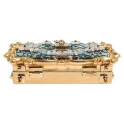 Dolce & Gabbana Multicolor Acrylic Mirrored Baroque Dolce Box Bag