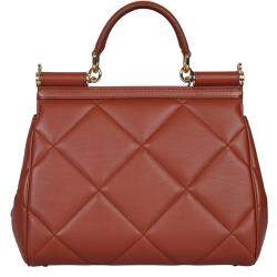 Dolce & Gabbana Brown Leather Medium Sicily Bag