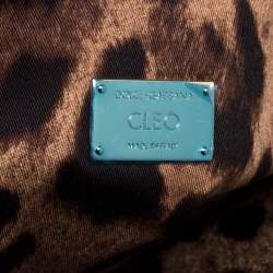 Dolce & Gabbana Black Fur and Snakeskin Cleo Clutch