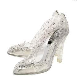 Dolce & Gabbana Transparent PVC Cinderella Swarovski Embellished Pumps Size 37.5