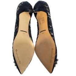 حذاء كعب عالى دولتشى أند غابانا بيولتشى دانتيل أزرق مقاس 38.5