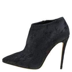 Dolce & Gabbana Black Lace Ankle Boots Size 36