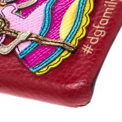 Dolce & Gabbana Red Leather Embellished #dgfamily Patch Iphone 6 Case