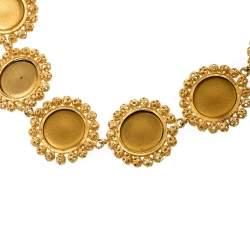 Dolce & Gabbana Multicolor Resin Filigree Beaded Gold Tone Necklace