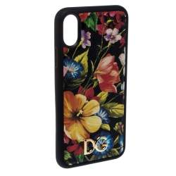 Dolce & Gabbana Black Floral IPhone XS Max Case