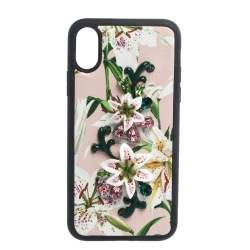 Dolce & Gabbana Multicolor Floral Print Leather Embellished iPhone X Case