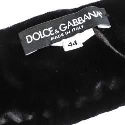 Dolce & Gabbana Black Velvet Wide Waist Belt