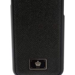 Dolce & Gabbana Black Leather iPhone 7 Cover