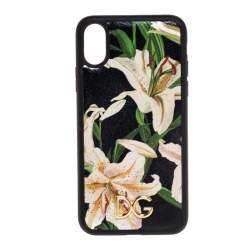 Dolce & Gabbana Multicolor Lily Print Leather iPhone XS Max Case