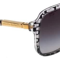 Dolce & Gabbana Lace Inlay/ Smoke Gradient DG 4172 Square Sunglasses