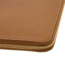 Dolce & Gabbana Tan Leather Agenda Organizer