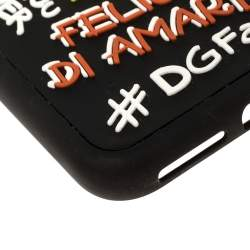 Dolce & Gabbana Black Rubber Abstract Appliques iPhone X Case