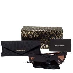 Dolce & Gabbana Dark Havana/ Brown Gradient DG 4370-F Cat Eye Sunglasses