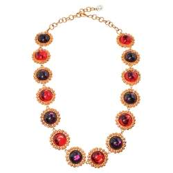 Dolce & Gabbana Red Crystal Embellished Necklace