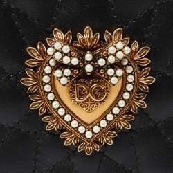 Dolce & Gabbana Black Leather Sacred Heart iPhone X Case