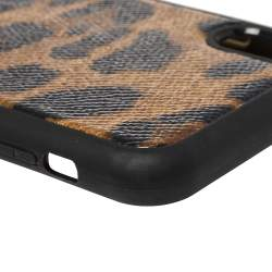 Dolce & Gabbana Brown Leopard Print Dauphine iPhone X Case