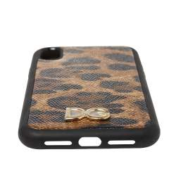 Dolce & Gabbana Brown Leopard Print Dauphine iPhone XR Case