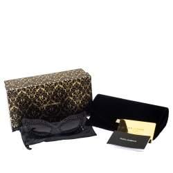 Dolce & Gabbana Black & Pearl Lace Filigree / Grey Gradient DG 2238-H Cat Eye Sunglasses