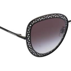 Dolce & Gabbana Black Tone/ Grey Gradient DG 2226 Cat Eye Sunglasses