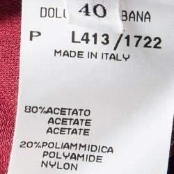 Dolce & Gabbana Red Knit Sleeveless V Neck Tunic S