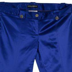 Dolce & Gabbana Purple Satin Trousers M