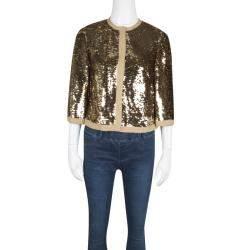 Dolce & Gabbana Gold Sequin Jacket S