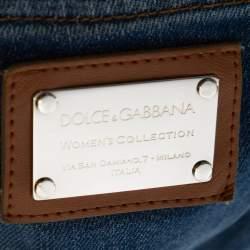 Dolce & Gabbana Blue Denim Paint Splattered Straight Leg Jeans M