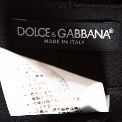 Dolce & Gabbana Black Stretch Wool Tailored Pants L