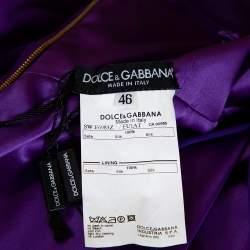 Dolce & Gabbana Purple Silk Chiffon Embellished Maxi Dress L