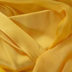 Dolce & Gabbana Yellow Silk Bow Detail Sleeveless Maxi Dress M