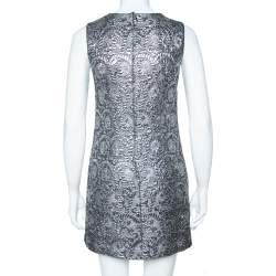 Dolce & Gabbana Silver Metallic Jacquard Shift Dress S