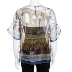 Dolce & Gabbana Multicolor Silk Organza Printed Top M