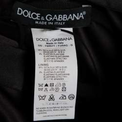 Dolce & Gabbana Black Draped Silk Mini Dress S