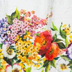 Dolce & Gabbana Multicolor Floral Embossed Jacquard Short Skirt M