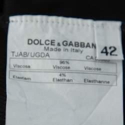 Dolce & Gabbana Black Rib Knit Embellished Detail Tank Top M