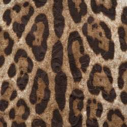 Dolce and Gabbana Brown Leopard Print Jacquard Boxy Fit Blouse S