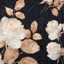فستان دولتشي أند غابانا فينتدج جاكار أسود مورد مقاس متوسط - ميديوم