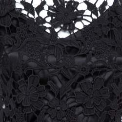 فستان دولتشي أند غابانا جيبير دانتيل أسود مقاس متوسط - ميديوم