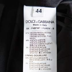 Dolce & Gabbana Black Crepe Tailored Pencil Skirt M