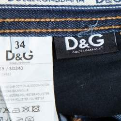 D&G Navy Blue Denim Straight Leg Jeans S