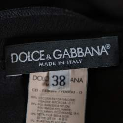 Dolce & Gabbana Black Crepe Sleeveless Shift Dress S