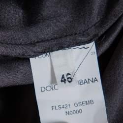 Dolce & Gabbana Black Lace Full Circle Maxi Skirt L